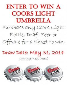 Coors light Umbrella