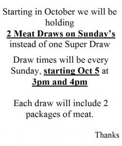 Oct Meat Draw Sunday