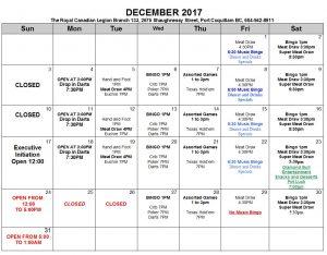 Dec 2017 calendar